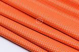 """Отрез ткани """"Густой горошек 2 мм"""" на оранжевом фоне, №1855а, размер 90*160, фото 7"""