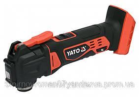 Багатофункційний ручний інструмент (реноватор) акумуляторний YATO : Li-Ion 18 В, БЕЗ АКУМУЛЯТОРА