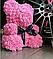 Мишка из роз с бантом, в подарочной коробке (большой 40 см) розовый, фото 2