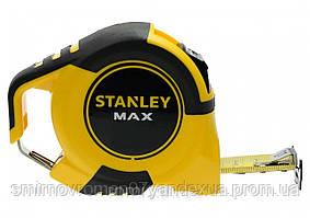 """Рулетка STANLEY """"MAX"""" : 3 м х 19 мм, сталева стрічка, пластиковий корпус"""