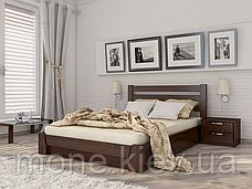 Ліжко полуторне Селену дерев'яні з бука, фото 3