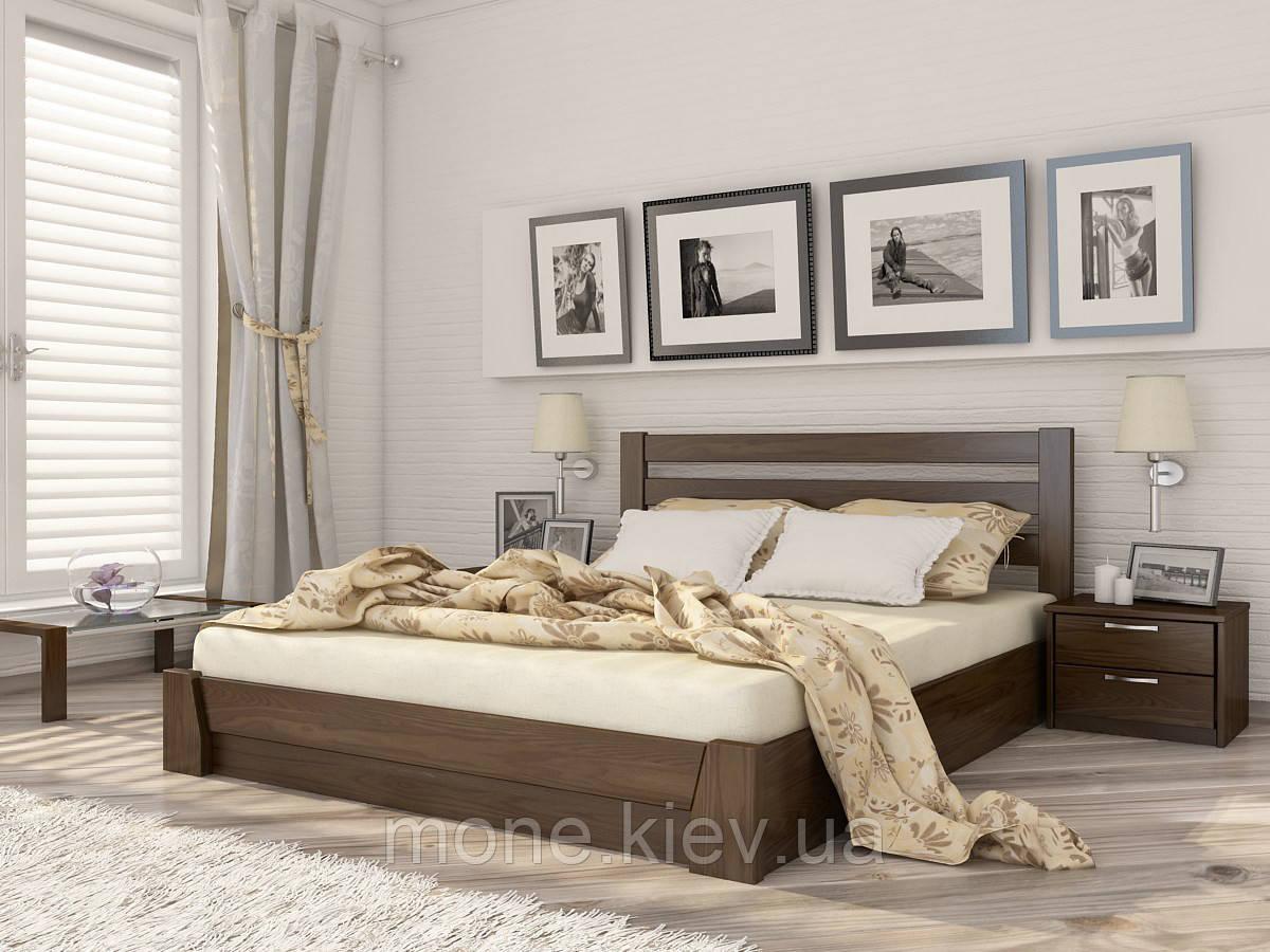 Кровать двуспальная Селена деревянная из бука