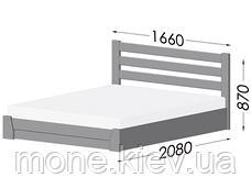 Кровать двуспальная Селена деревянная из бука , фото 2