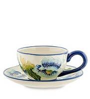 """Фарфоровая Чайная пара """"Голубые маки"""" Pavone BS-243, фото 1"""