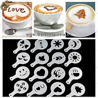 """Декораторы для кофе - """"Barista Stencils"""" - 16 шт."""