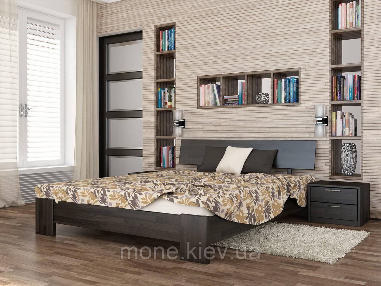Ліжко двоспальне Титан дерев'яні з бука