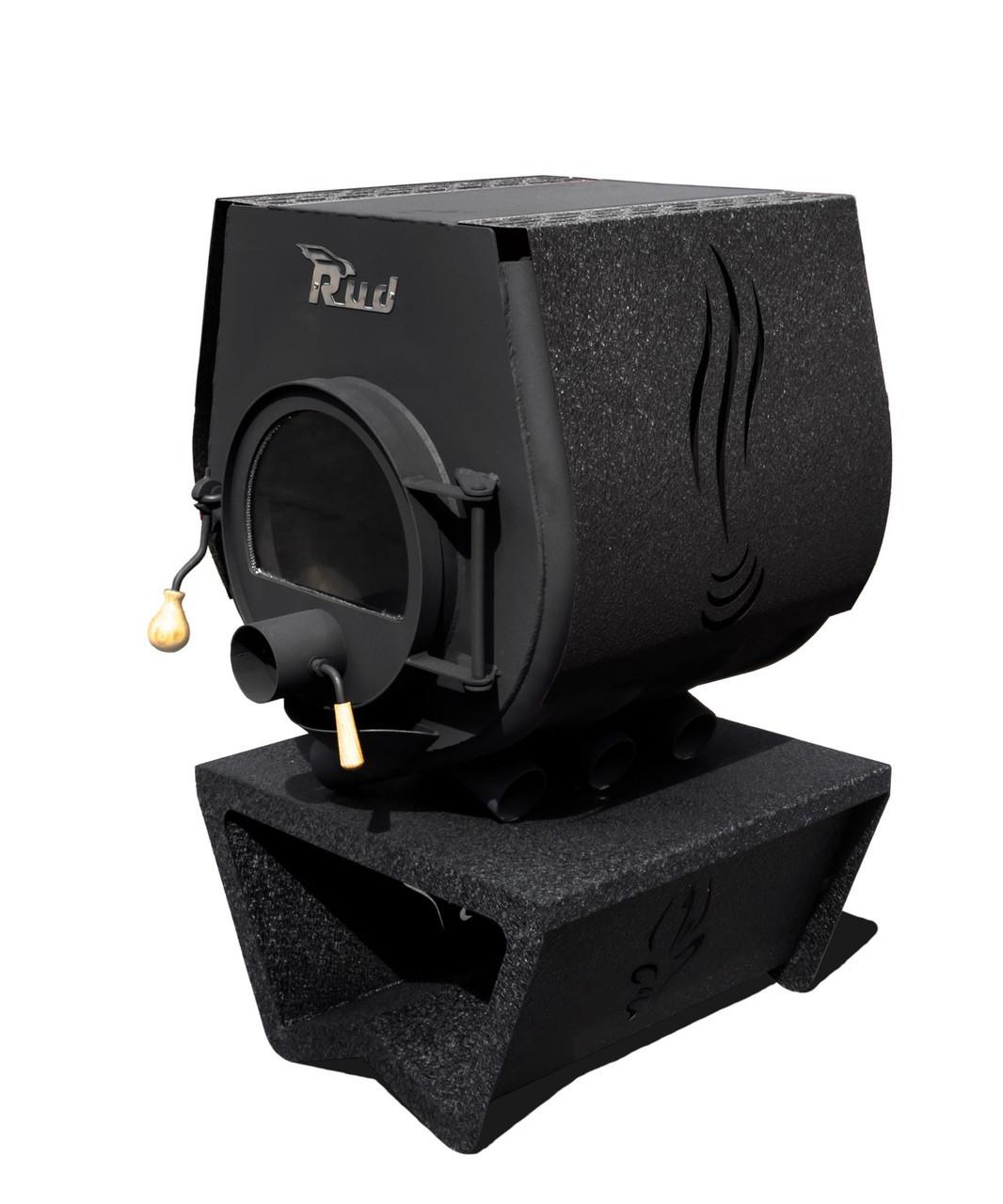 Отопительная конвекционная печь Rud Pyrotron Кантри 01 с варочной поверхностью (отапливаемая площадь 80 кв.м.  Стекло в дверце печи