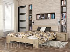 Ліжко двоспальне Титан дерев'яні з бука, фото 2