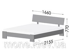 Ліжко двоспальне Титан дерев'яні з бука, фото 3