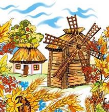 Декупажная салфетка Украинское село 3397