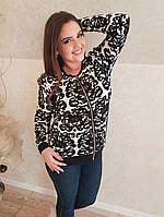 Красивый женский джемпер со змейкой. Размеры 56,54,56