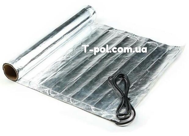 Фольгированный алюминиевый нагревательный мат In-therm Afmat 1 м2 под ламинат и линолеум
