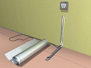 Фольгированный алюминиевый нагревательный мат In-therm Afmat 1 м2 под ламинат и линолеум, фото 2