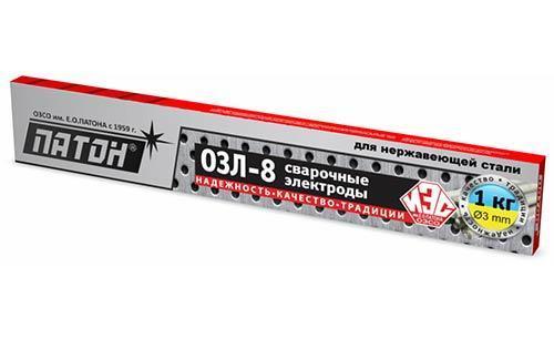 Електроди ПАТОН ОЗЛ-8 диаметр 3мм, вес 1кг