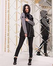 Куртка с трикотажными рукавами женская, фото 3