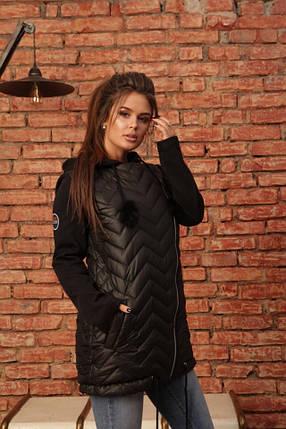 Куртка на синтепоне с трикотажными рукавами, фото 2