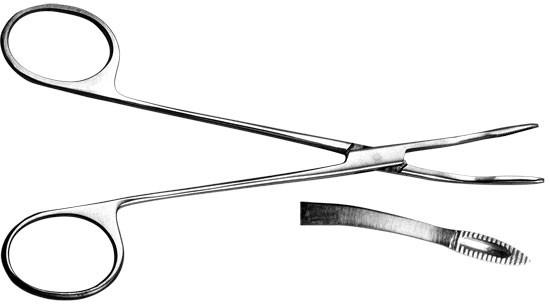 Щипцы для извлечения почечных камней, детские, № 1, изогнутые, 140 мм.