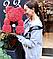 Мишка из роз с бантом, в подарочной коробке (большой 40 см) красный, фото 5