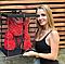 Мишка из роз с бантом, в подарочной коробке (большой 40 см) красный, фото 6
