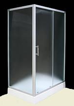 7007-120F (80х120см). Душевая кабина KO&PO с мелким поддоном, стекло матовое