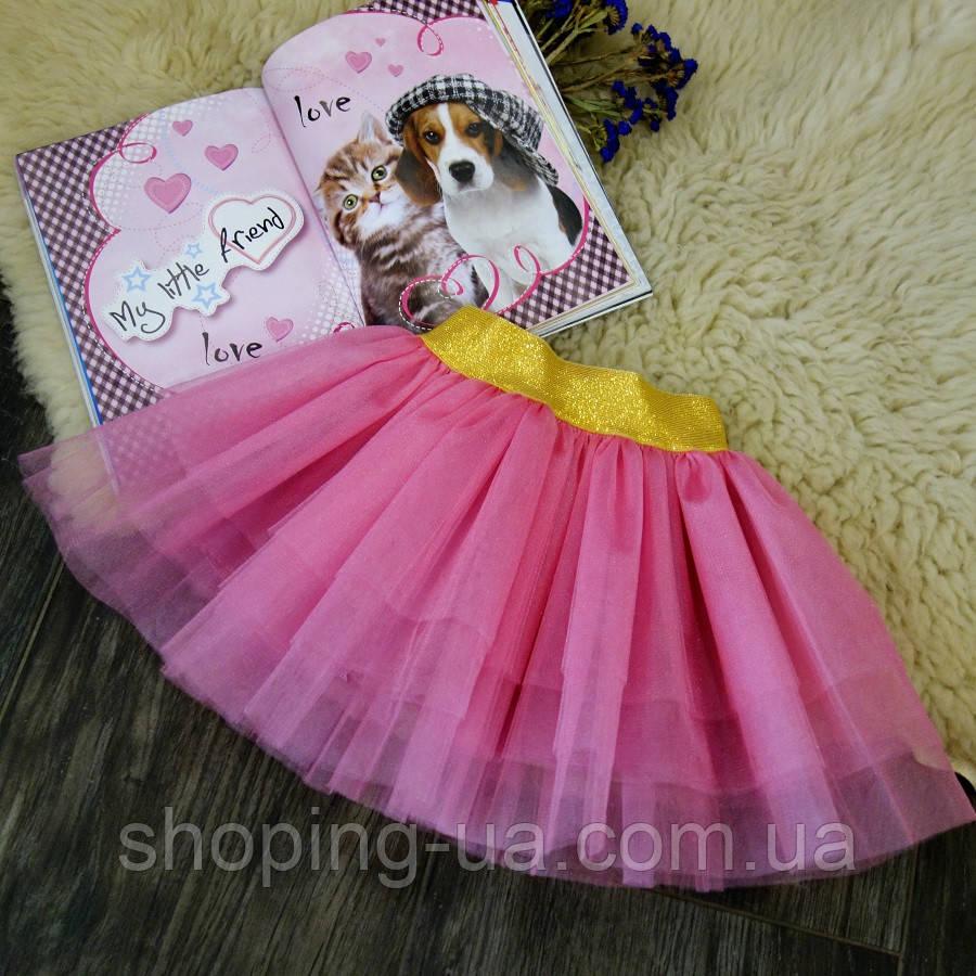 Нарядная фатиновая розовая юбка Five Stars U0180-110p