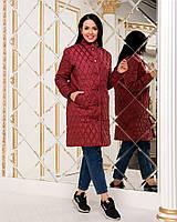 Пальто женское демисезонное с бусинками СЕР259