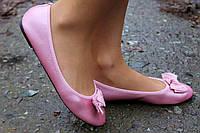 Красивые женские балетки розовые