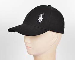 """Бейсболка """"Стрейч котон"""" Polo SK1903 черный+белый"""