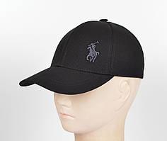 "Бейсболка ""Стрейч котон"" Polo SK1903 черный+серый"