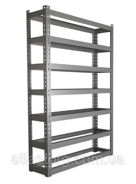 Стеллаж АТМ2 под 700й ящик, разборный металлический каркас без ящиков - ООО «Компания «Атлас» складское оборудование, промышленная мебель, стеллажи, колеса, ПВХ завесы в Харькове