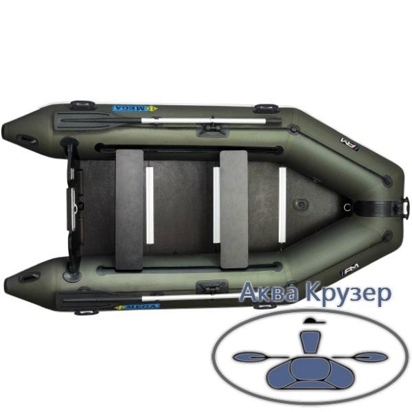 Лодка надувная пвх моторная килевая Omega Ω 300 К с жестким полом