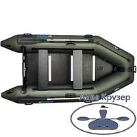 Човен надувний пвх моторна кільової Omega Ω 300 К з жорстким підлогою, фото 1