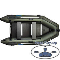 Лодка надувная пвх моторная килевая Omega Ω 300 К с жестким полом, фото 1