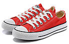 Мужские кеды Converse Chuck Taylor All Star (конверсы) красные, фото 3