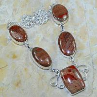 Серебряное ожерелье с яшмой