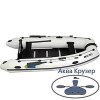 Килевая надувная лодка ПВХ Omega Ω 330 К U под мотор с надувным килем и жестким полом