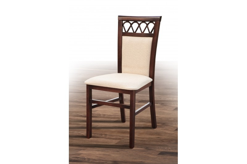 Деревянный обеденный стул из массива дерева, с мягкой сидушкой, спинкой - Анжело 5. Цвет -орех