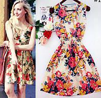 Летнее легкое платье, шифоновое платье, плаття