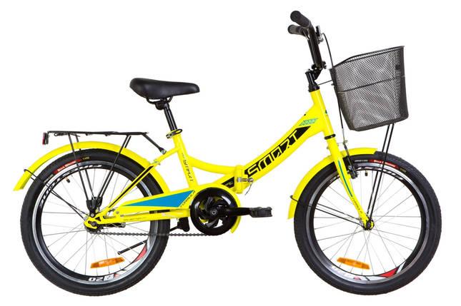 """Складной велосипед 20"""" Formula SMART с корзиной 2019 (розовый), фото 2"""