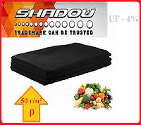 "Агроволокно на метраж 4%, Р-50 г/м²,ширина 1,6, длина отреза 10 м.""Shadow"" (чёрное), фото 1"