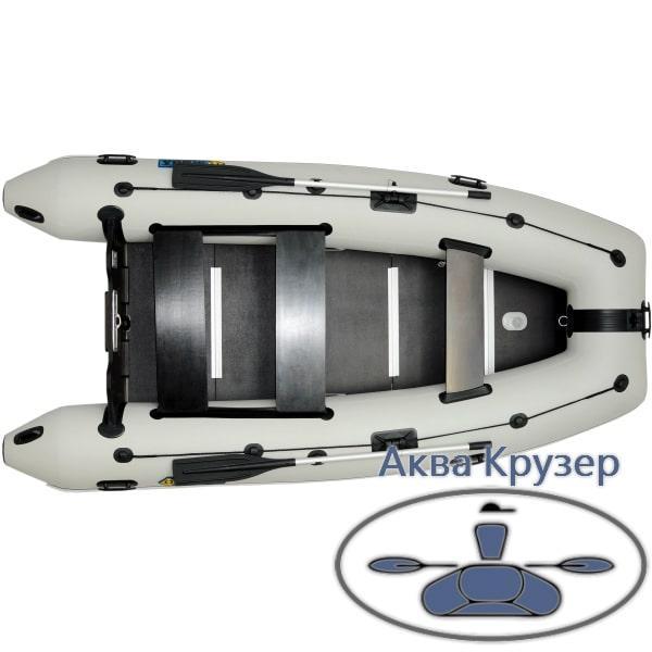 Надувная килевая лодка ПВХ Omega Ω 360 К с надувным килем и жестким полом