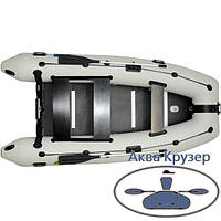 Надувна кільової човен ПВХ Omega Ω 360 з надувним кілем і жорстким підлогою, фото 1