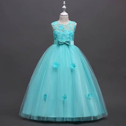 1758b480e0267c1 Нарядное длинное платье для девочки бирюзовое: продажа, цена в ...