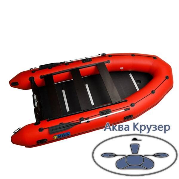 """Лодка пвх Omega 385 K PFA Lux - килевая моторная """"Спасатель"""""""