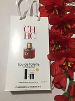 Жіночий Аромат Carolina Herrera C. H. Women 3*15мл в сумочці