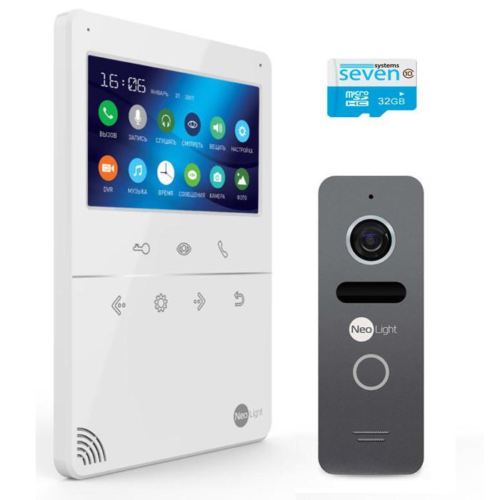 Комплект видеодомофон с вызывной панелью TETTA COMPACT Plus graphite