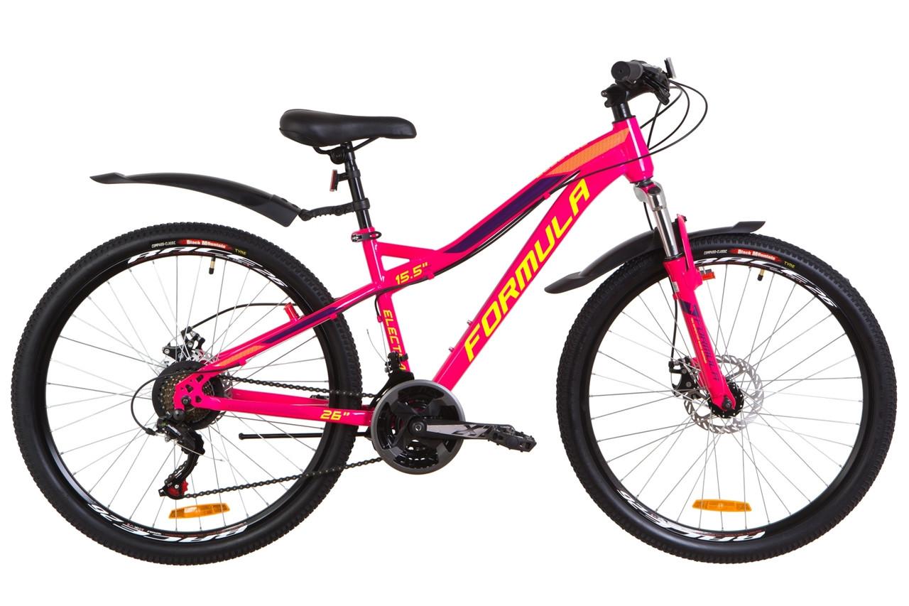 """Горный велосипед 26"""" Formula ELECTRA DD 2019 (бело-розовый с голубым)"""