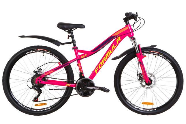 """Горный велосипед 26"""" Formula ELECTRA DD 2019 (бело-розовый с голубым), фото 2"""