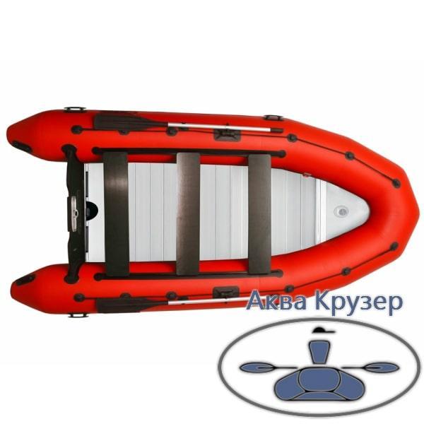 """Надувна кільової моторний човен пвх """"Рятувальник"""" Omega 385 K ALF LUX"""