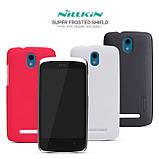 Чехол для HTC Desire 500 Nillkin Frosted Shield Red, фото 2